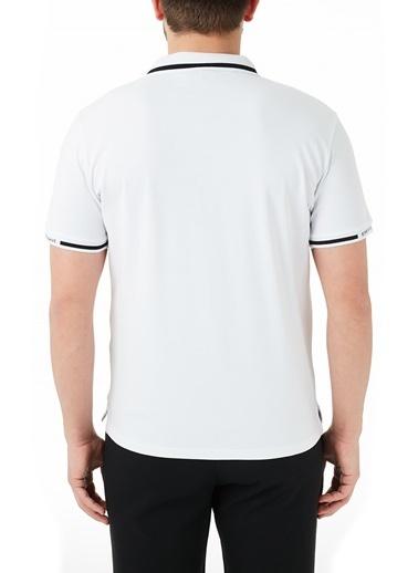 Emporio Armani  Pamuklu Düğmeli Polo T Shirt Erkek Polo 3K1Fa4 1Jptz 0176 Beyaz